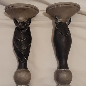 NWT 2 Wood Bat Candle Holders